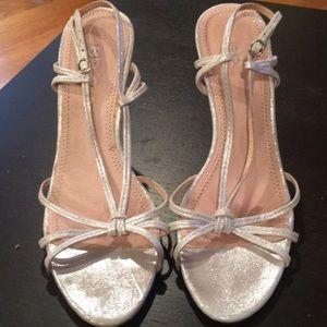 BP silver dress heels